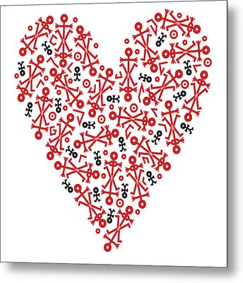 Heart Icon Metal Print by Thisisnotme