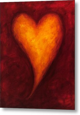 Heart Of Gold 2 Metal Print by Shannon Grissom