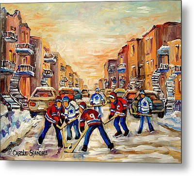 Heat Of The Game Metal Print by Carole Spandau