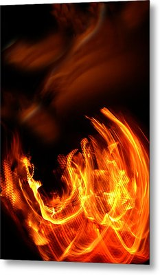 Heavenly Flame Metal Print by Donna Blackhall
