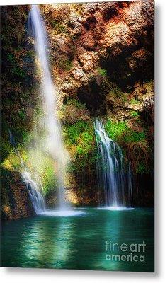 Heavenly Light At Dripping Springs II Metal Print by Tamyra Ayles