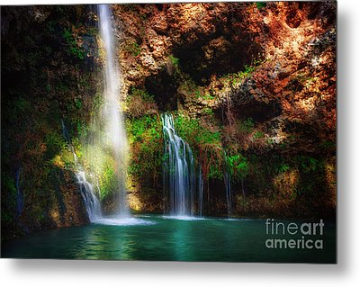 Heavenly Light At Dripping Springs Metal Print by Tamyra Ayles