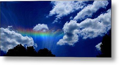 Heavens Rainbow Metal Print by Linda Sannuti