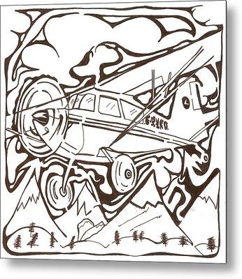 Heavier Than Air Maze Metal Print by Yonatan Frimer Maze Artist