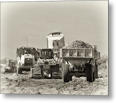 Heavy Equipment Meeting Metal Print by Patrick M Lynch