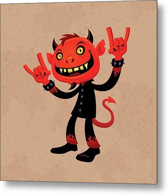 Heavy Metal Devil Metal Print by John Schwegel