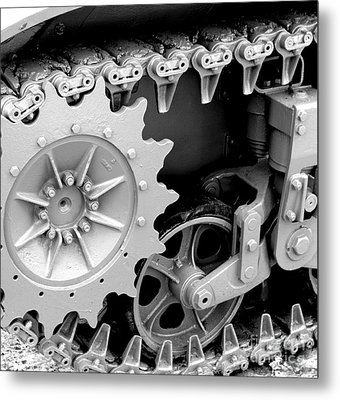 Heavy Metal In Gray Metal Print by Valerie Fuqua