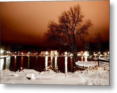 Hecksher Pond Metal Print by Michael Simeone