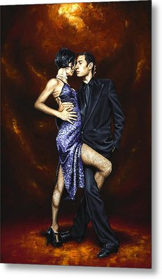 Held In Tango Metal Print by Richard Young