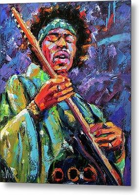 Hendrix Metal Print by Debra Hurd