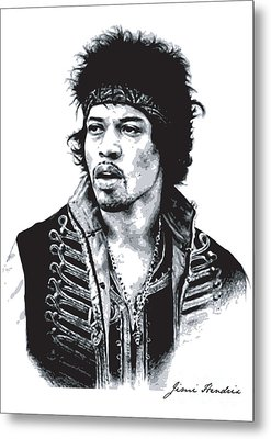 Hendrix No.02 Metal Print by Unknow