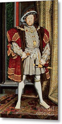 Henry Viii Metal Print by Hans Holbein the Younger