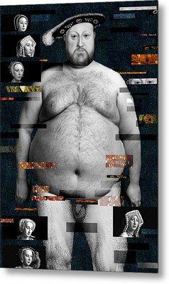 Henry Viii Nude Metal Print by Karine Percheron-Daniels