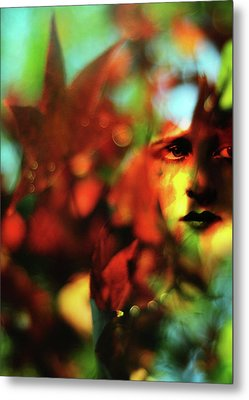Her Autumn Eyes Metal Print by Rebecca Sherman