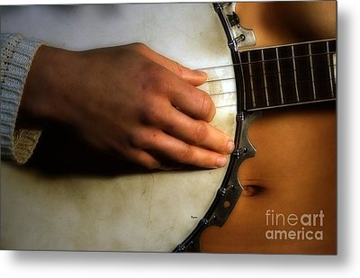 Her Distinctive Culture Of Sound Metal Print by Steven  Digman