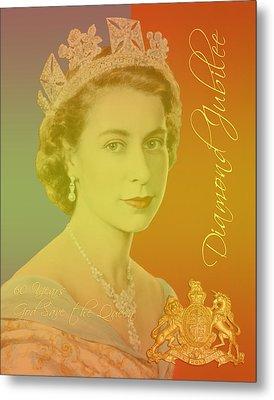 Her Royal Highness Queen Elizabeth II Metal Print by Heidi Hermes