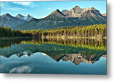 Herbert Lake - Quiet Morning Metal Print by Jeff R Clow