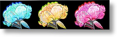 Here Today And Gone Tomorrow Triptych Metal Print by Angelina Vick