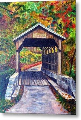 Herns Mill Bridge, Lewisburg Wv Metal Print by Julie Brugh Riffey