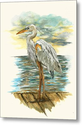 Heron Metal Print by Kathleen Kelly Thompson