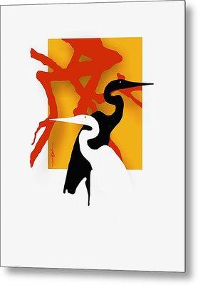 Herons  Metal Print by Bob Salo