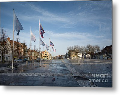 Het Zand, Bruges Metal Print by Stephen Smith