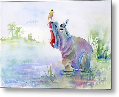 Hey Whats The Big Idea Metal Print by Amy Kirkpatrick