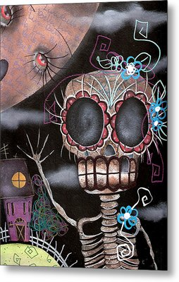 HI  Metal Print by  Abril Andrade Griffith