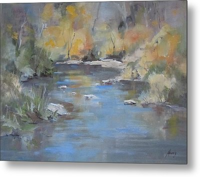 Hidden River Metal Print by Elaine Monnig