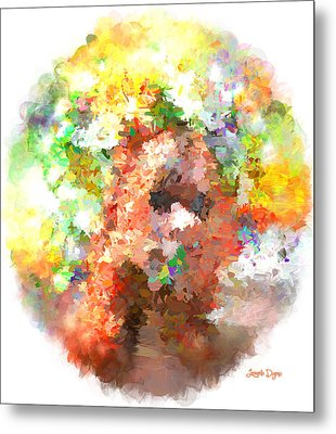 Hidding Face - Da Metal Print by Leonardo Digenio