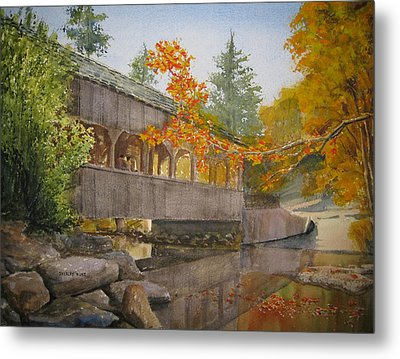 High Falls Bridge Metal Print by Shirley Braithwaite Hunt