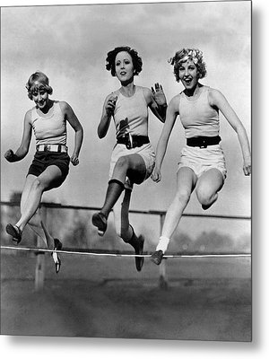 High Stepping Metal Print by Topical Press Agency