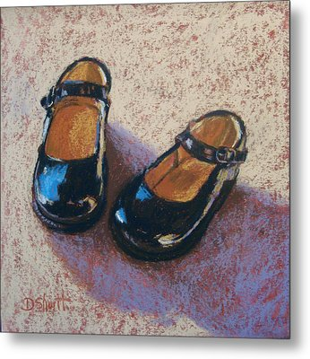 High Style Baby Girl Metal Print by Donna Shortt