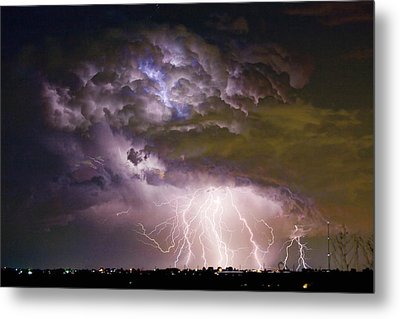 Highway 52 Storm Cell - Two And Half Minutes Lightning Strikes Metal Print by James BO  Insogna