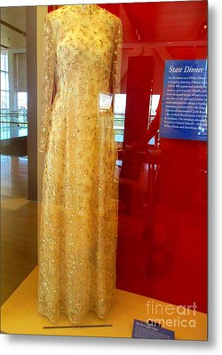 Hillary Clinton State Dinner Gown Metal Print by Randall Weidner