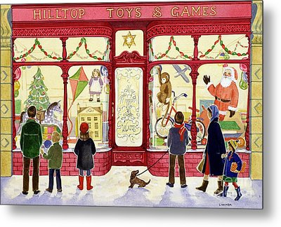 Hilltop Toys And Games Metal Print by Lavinia Hamer