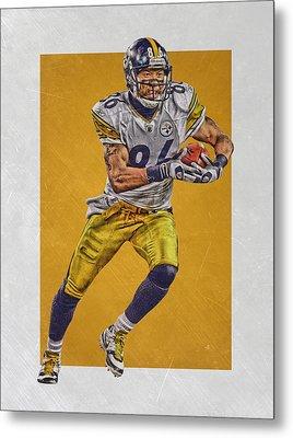 Hines Ward Pittsburgh Steelers Art Metal Print by Joe Hamilton