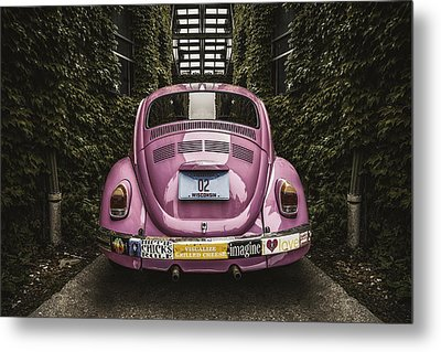 Hippie Chick Love Bug Metal Print by Scott Norris