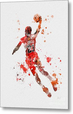 His Airness Metal Print by Rebecca Jenkins