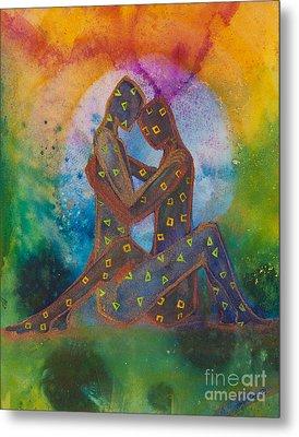 His Loves Embrace Divine Love Series No. 1007 Metal Print by Ilisa  Millermoon