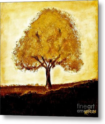 His Tree Metal Print by Marsha Heiken