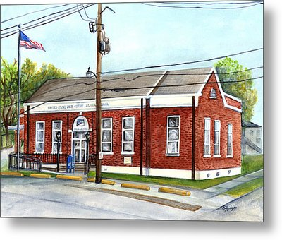 Historic District Post Office Metal Print by Elaine Hodges