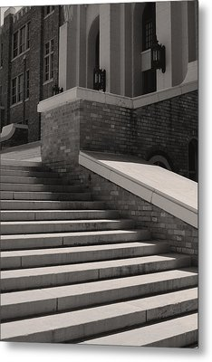 Historic Steps Little Rock Central High School Metal Print by Brian M Lumley