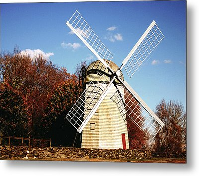 Historical Windmill Metal Print by Lourry Legarde