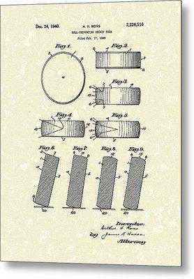Hockey Puck Metal Print by Prior Art Design