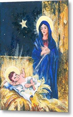 Holy Christmas No. 2 Metal Print by Elisabeta Hermann