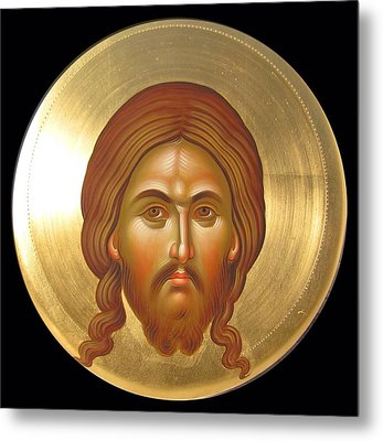 Holy Face Mandilion Metal Print by Daniel Neculae