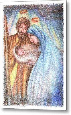 Holy Family - Christian - Catholic Painting Metal Print by Remy Francis