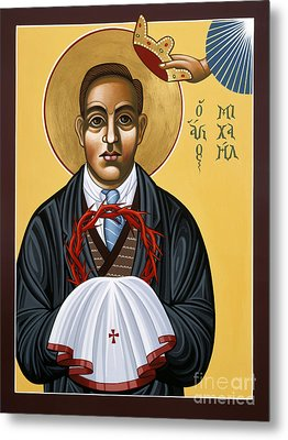 Holy New Martyr Padre Miguel Pro 119 Metal Print by William Hart McNichols