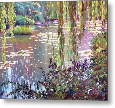 Homage To Monet Metal Print by David Lloyd Glover